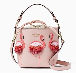 Kate Spade By the Pool Flamingo Pippa Bucket Bag